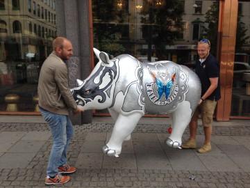 Noshörning sebastian och axel