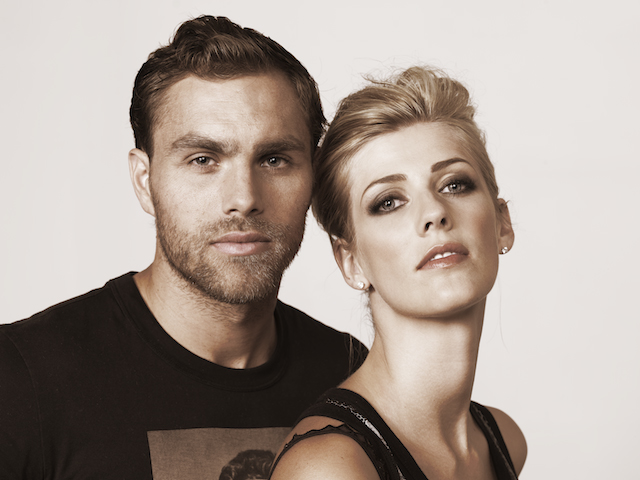 Amanda and Johan Elmander